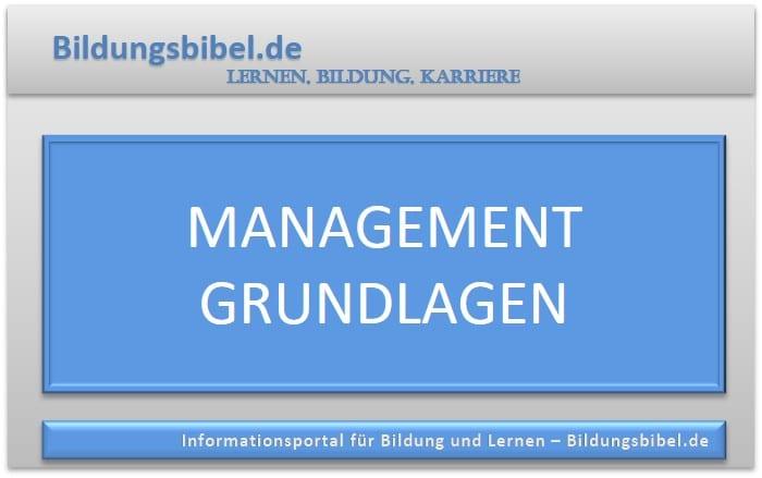 Management Grundlagen lernen