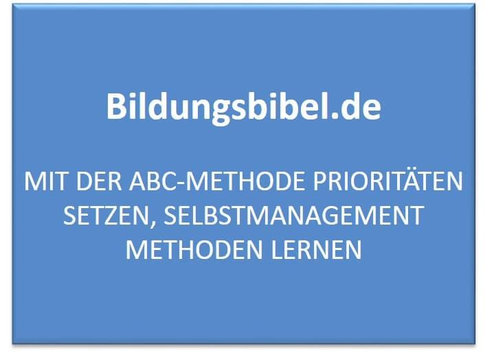 ABC Methode Anwendung, Beispiel, Vorteile, Nachteile