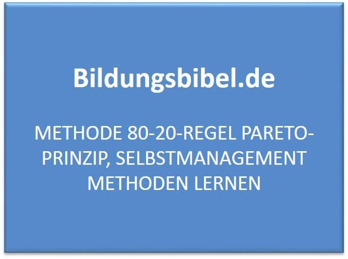 Pareto Prinzip, 80-20-Regel, Zeitmanagement, Selbstmanagement Methoden