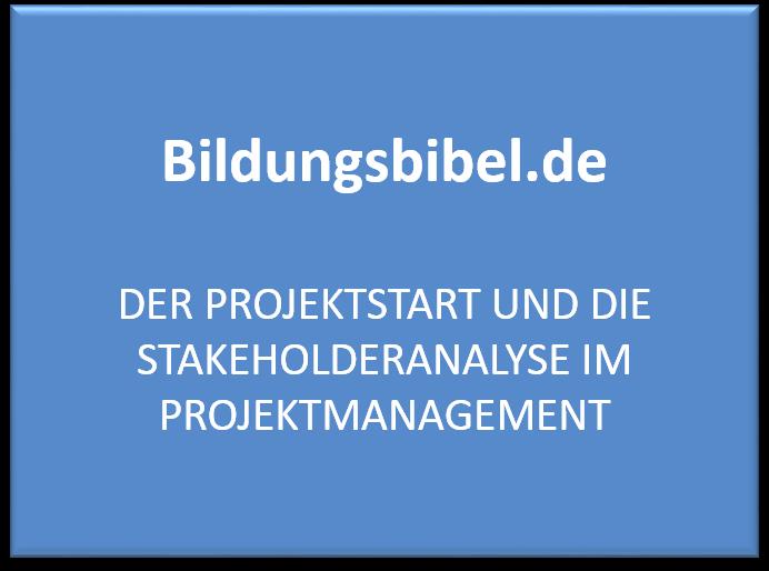 Stakeholderanalyse Projektmanagement, Stakeholder, Typen, Durchführung, Maßnahmen