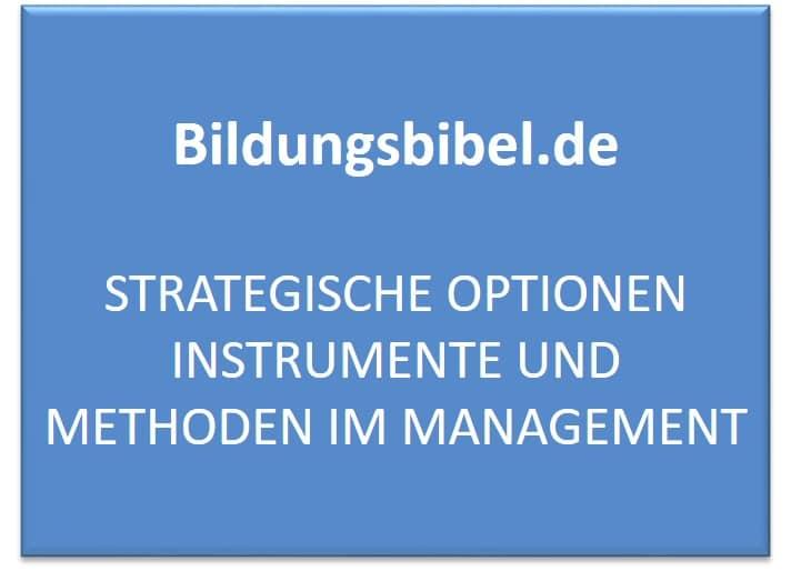 Strategische Optionen Instrumente und Methoden im Management