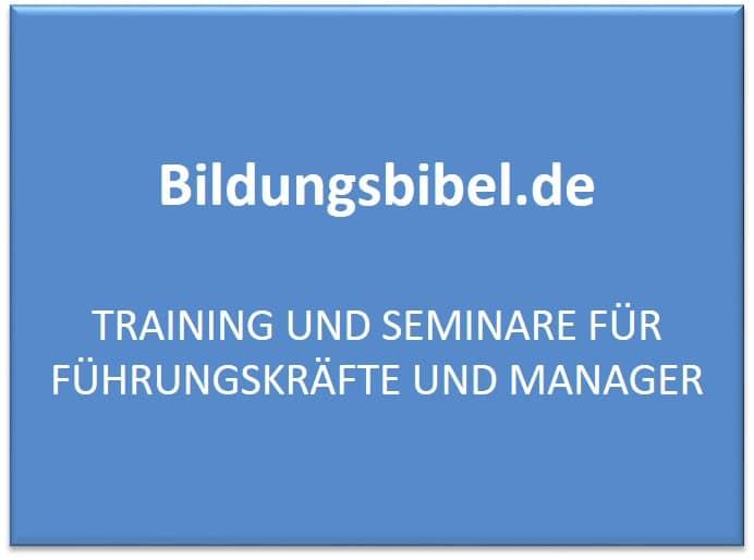 Seminare für Führungskräfte, Training, Manager Seminare finden